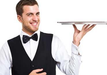 سالن کار رستوران یا ویتر